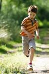 healthy bones - young boy running