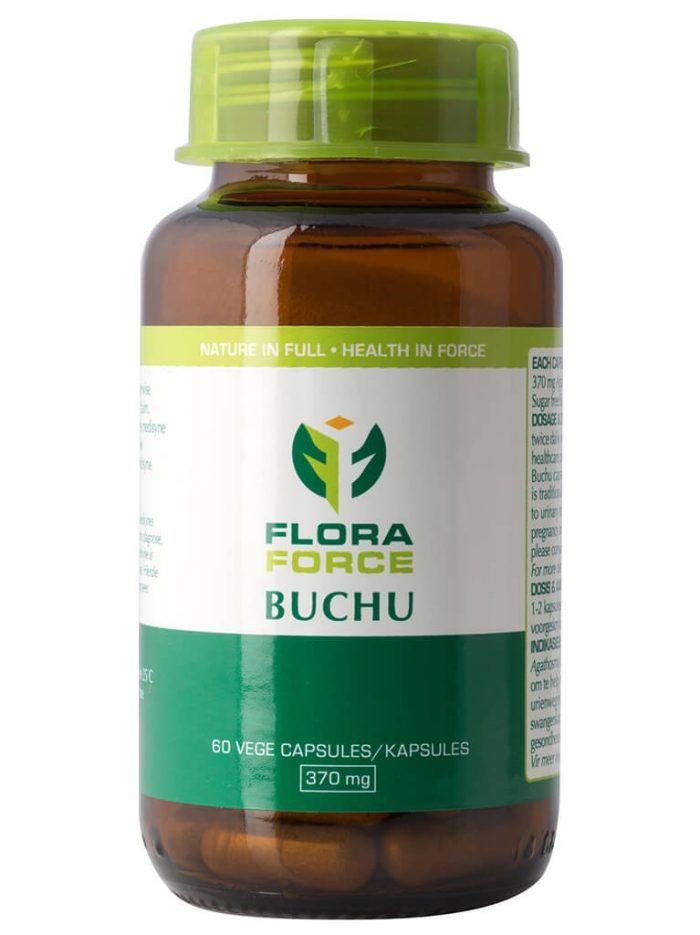 flora force buchu capsules bottle
