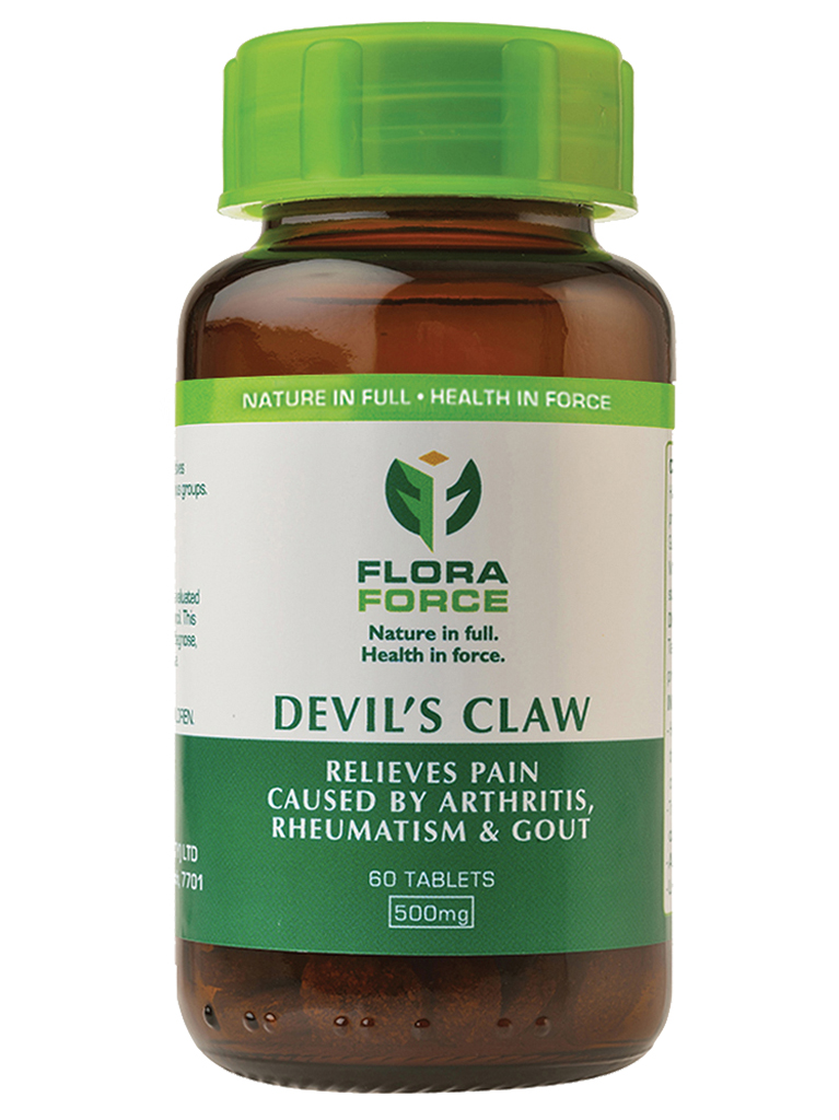 devil's claw tablets bottle