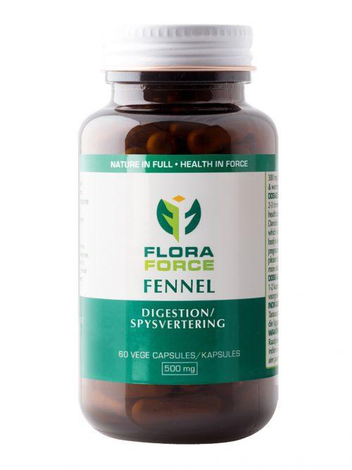 flora force fennel capsules bottle