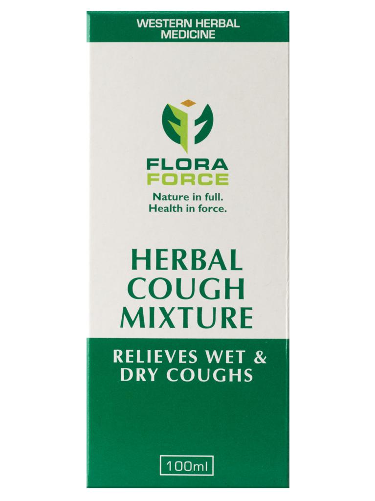 flora force herbal cough mixture box