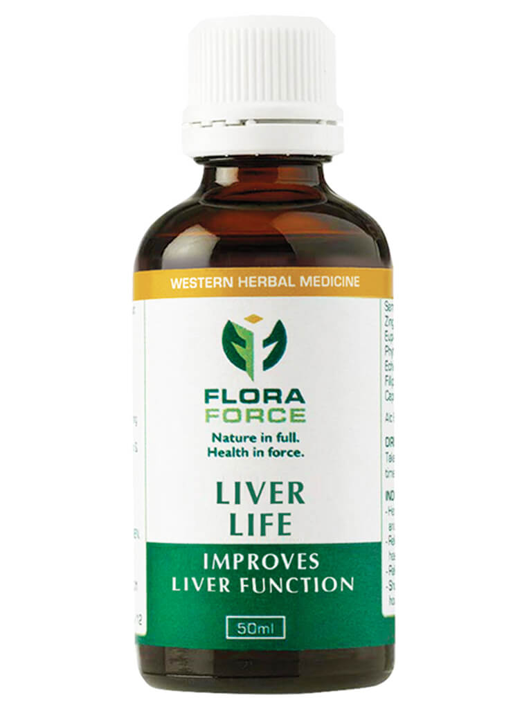 flora force liver life herbal tincture drops bottle