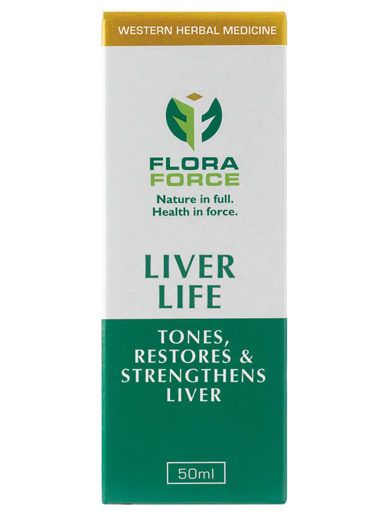 flora force liver life herbal tincture drops box