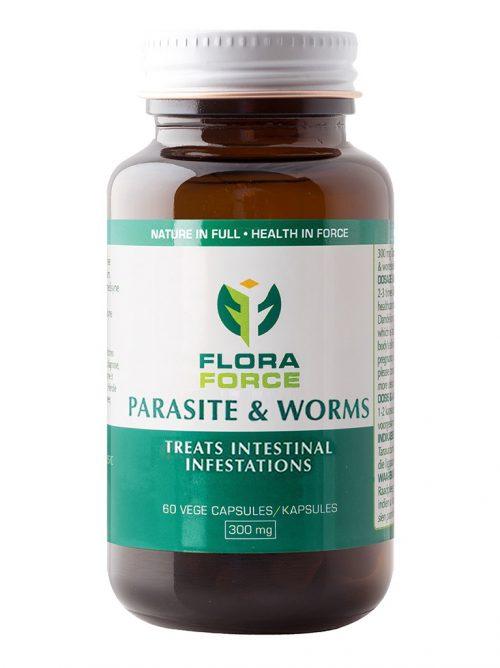 parasite & worms capsules bottle
