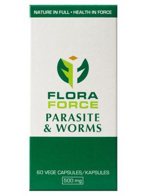 parasite & worms capsules box