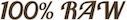 100% raw logo