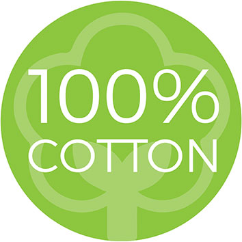 flora baby 100% cotton logo