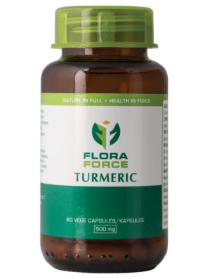flora force turmeric capsules bottle
