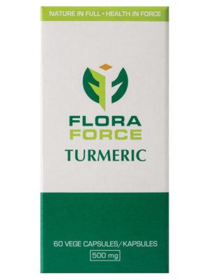 flora force turmeric capsules box