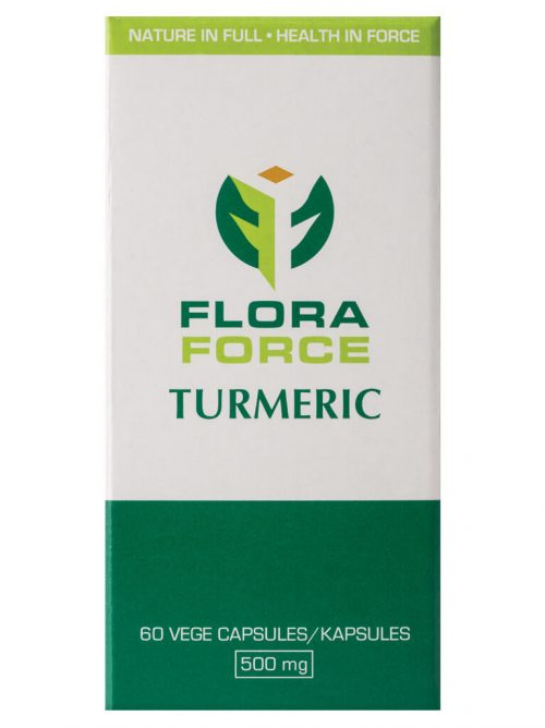 flora force turmeric capsules box