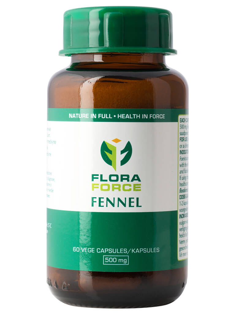 flora force fennel capsules bottle