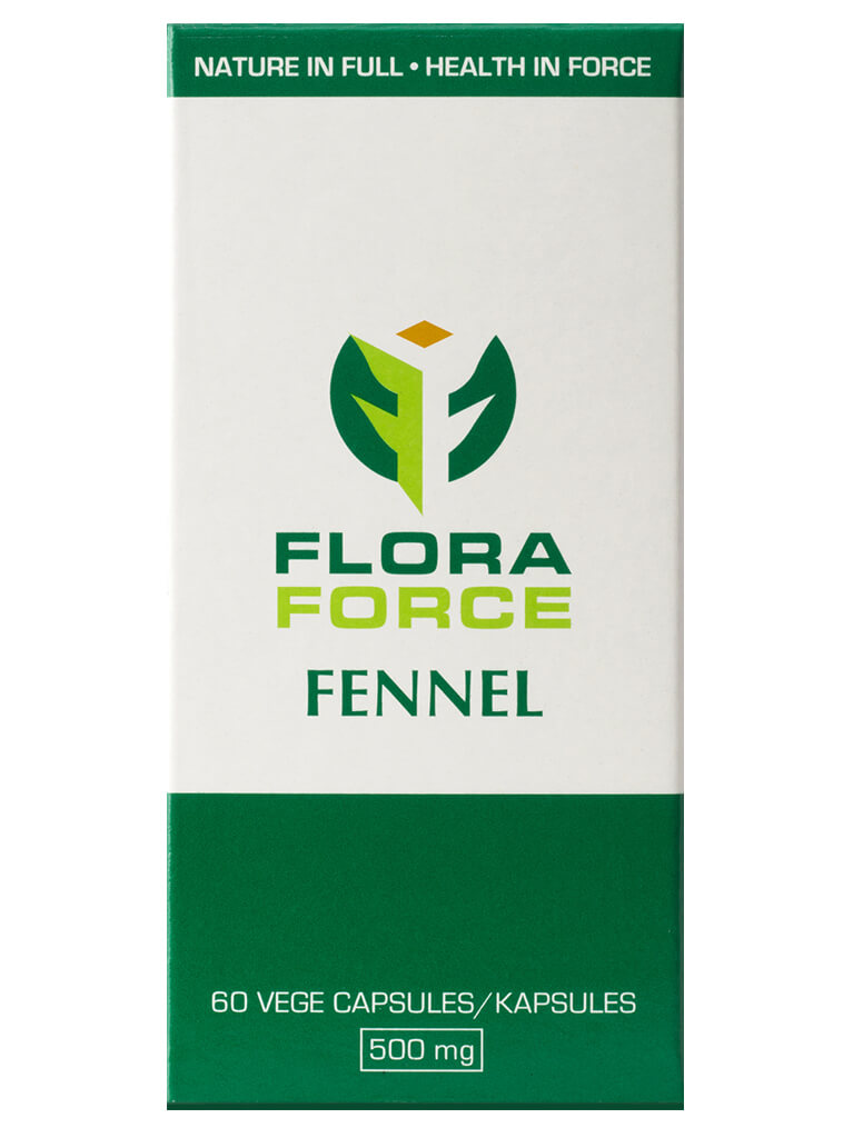 flora force fennel capsules box