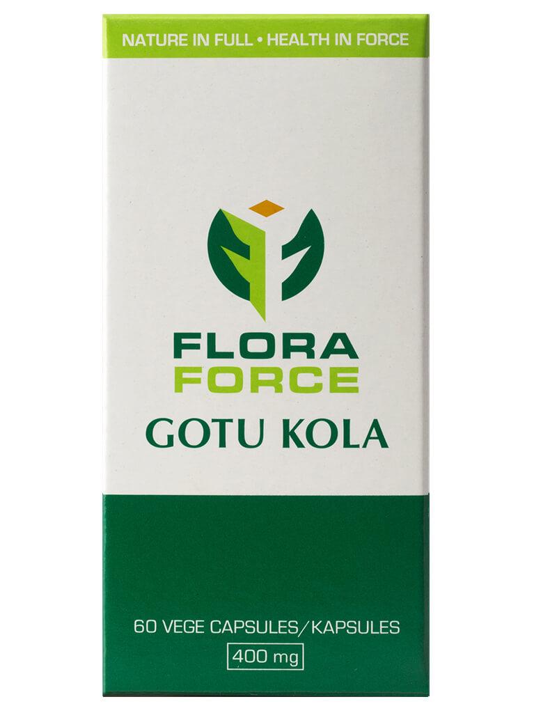 flora force gotu kola capsules box
