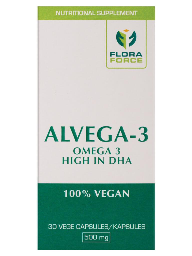 Alvega-3 Vegan Friendly Omega 3 supplement from Algal Oil