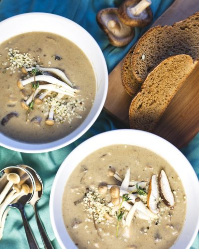 Creamy (Dairy-Free) Shiitake Mushroom Soup