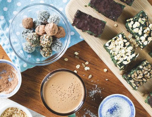 Easy plant-based protein bites with Chlorella and Pea Protein