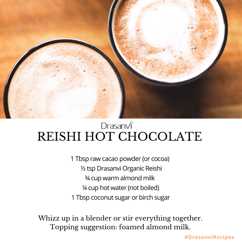 Reishi Superfood used in Hot Chocolate
