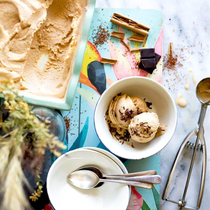 Creamy Rooibos Cinnamon & Maca Ice Cream
