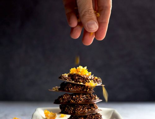 Dark Orange Chocolate Quinoa Crisps
